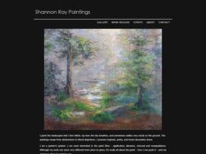 Screenshot of shannonraypaintings.com website