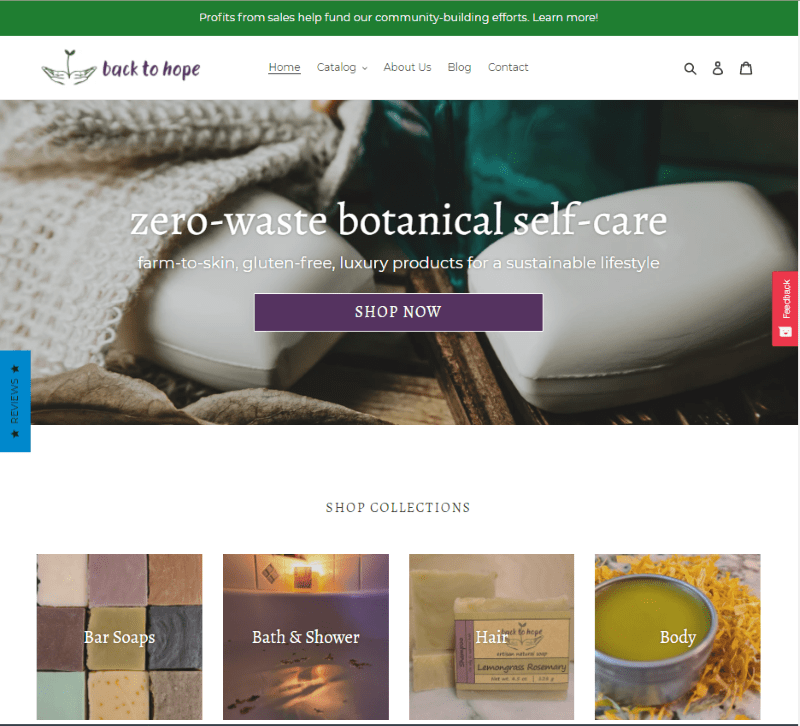 Back to Hope LLC - natural soaps, teas, and more